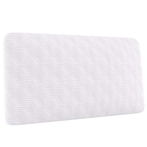 Amazon Basics - Cuscino da viaggio compatto in memory foam, 42 x 24 x 12 cm