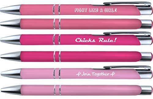 Set di 6 penne morbide al tatto per la sensibilizzazione contro il cancro al seno (36082)