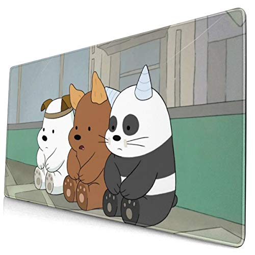 We Bare Cool Bears Mouse Pad Pattern Mousepad Non-Slip Rubber Gaming Mouse Pad Rectangle Mouse Pads for Computers Laptop 15.8x29.5 in