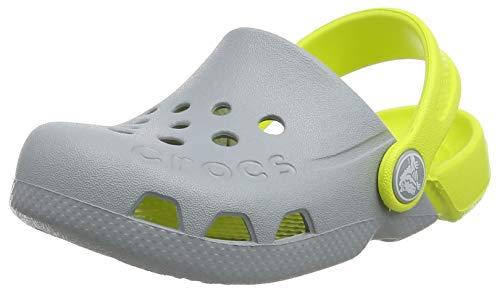Crocs Unisex-Kinder Electro Kids Clog, Grau (Light Grey/Citrus 06t), 25/26 EU