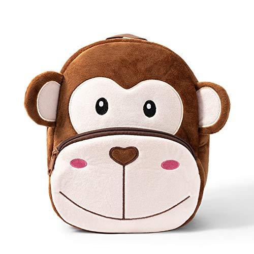 LEDAOU Kinderrucksack, Mini Rucksack Jungen Mädchen für Kinder Baby Kleinkind, AFFE