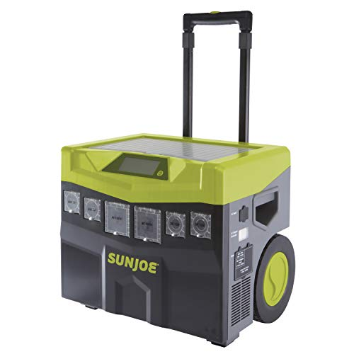 Sun Joe SJ1440SG 1440 Watt Battery Powered Portable Ind/Out Inverter Generator, Green
