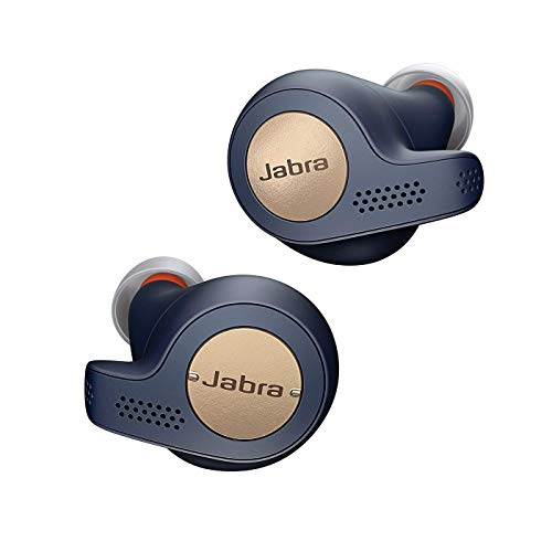 Jabra Elite Active 65t – True Wireless In-ear Sport Kopfhörer mit Passive Noise Cancellation – Mit Fitnesstracking über Bewegungssensoren – Kupfer/ Blau