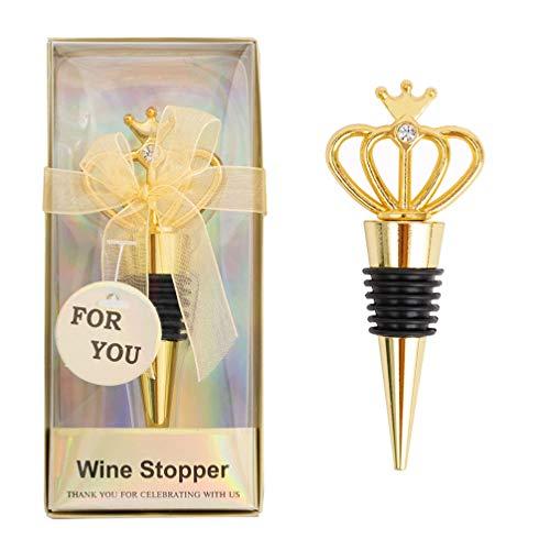 SOIMISS Crown Wine Bottle Stoppers Wine Bottle Saver Plug Drank Olie Azijn Vloeistof Fles Stopper Sealer Geschenken Voor Bruiloft Baby Shower Verjaardag Jubileum Party