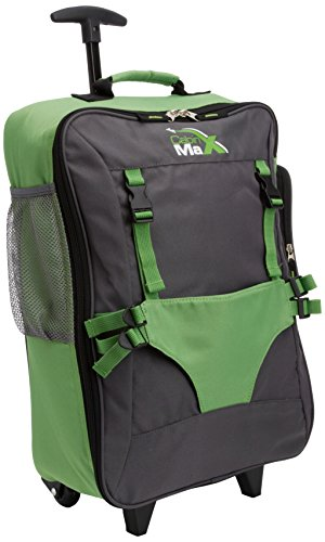 Cabin Max Bear Childrens luggage carry on trolley suitcase - Green