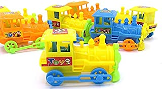 dazzling toys Pull Back Trains - Pack of 6 (D131/6)