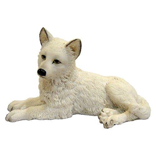 Nemesis Now Figur Winterwolf, 16 cm, Weiß