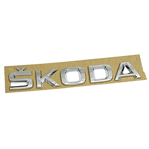 Skoda 5JA8536872ZZ Schriftzug Heckklappe hinten Emblem Logo Zeichen chrom