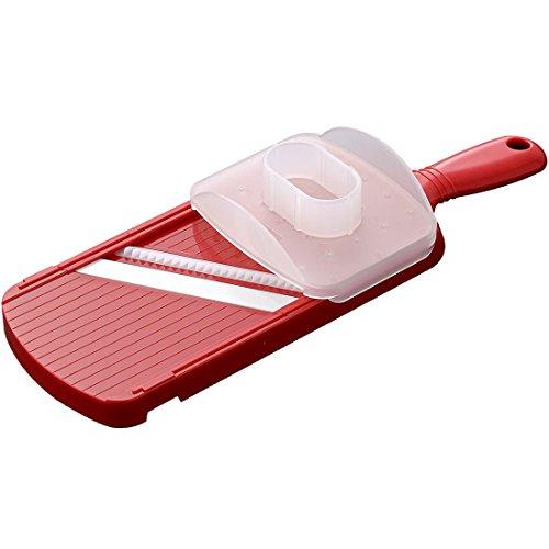KYOCERA - CSN182SNRD - Mandoline julienne rouge avec protège doigts et lame céramique haut de gamme - ultra tranchante et résistante
