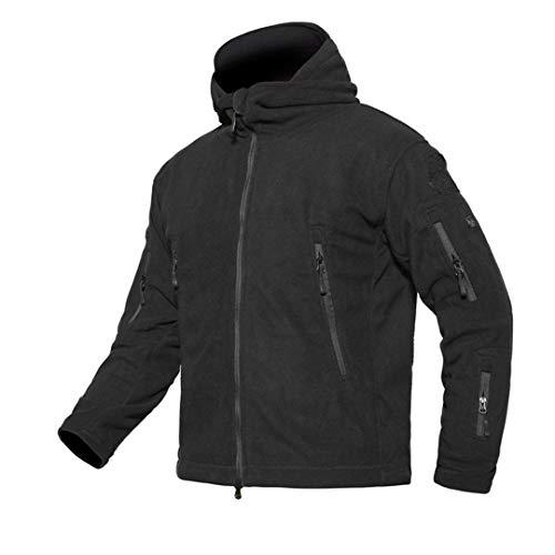 WEIYOUYO Winter militärische Taktische Fleece Jacke Männer warme Polar Armee Kleidung mehrere Taschen Oberbekleidung beiläufige thermische Hoodie Mantel Jacken Black M