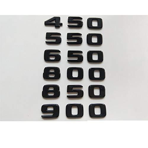 vitesurz für Mercedes Benz zu Brabus 450 500 550 580 600 650 700 800 850 880 900, schwarz glänzendes Emblem Auto Styling Kofferraum Logo Aufkleber