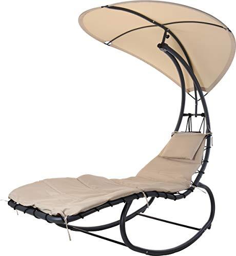 made2trade ligstoel met zonnedak - van staal - 195 x 90 x 185 cm