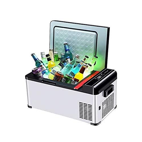 RTOFO Mini refrigerador de Nevera de WZDSZUILBX, refrigeración del compresor, Mini refrigerador de hogar de automóviles pequeño 12V / 24V, congelador de automóviles, Tan bajo como -25 ℃ refrigerador