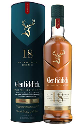Glenfiddich Single Malt Scotch Whisky 18 Jahre mit Geschenkverpackung (1 x 0,7l)