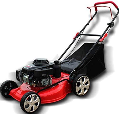 LMM 18inch 5.5HP 4-Takt-Benzinmäher Rasenmäher, tragbare zusammenklappbare/Grosse Villen, Parks, Sportplätze (Size : 16 inch Hand Push Type)
