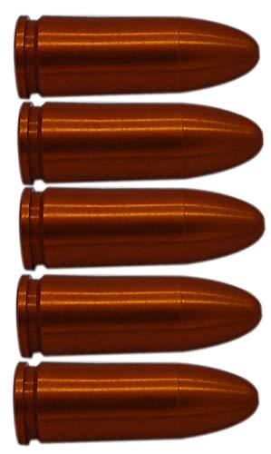 Flachberg Pufferpatrone Orange Pufferpatronen Alu 9mm Luger 5 Stück (M3) Kaliber 9 mm para