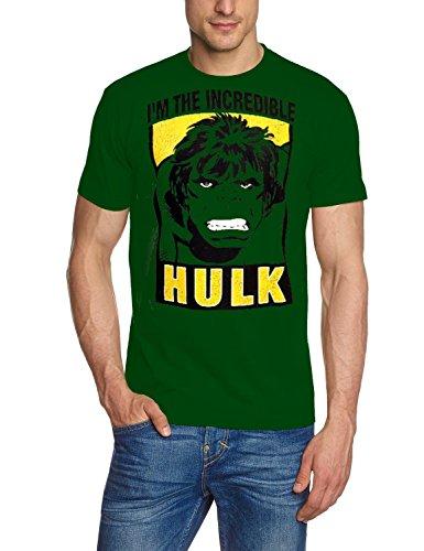 Coole-Fun-T-Shirts Herren Hulk-I Am The Incredible Original Marvel Comics T-Shirt, Grün, S