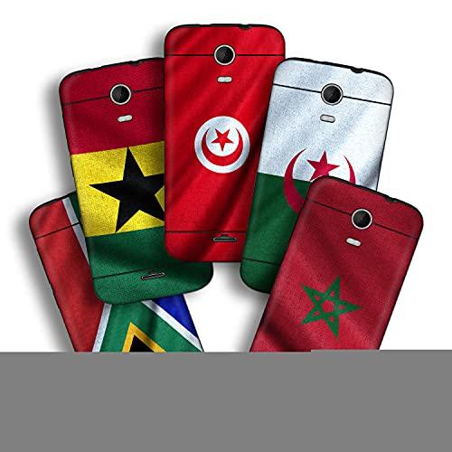 atFolix Designfolie kompatibel mit Wiko Darkmoon, wähle Dein Lieblings-Design aus, Skin Aufkleber (Flaggen aus Afrika)