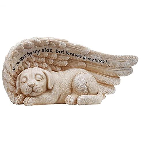 LjzlSxMF Ángel admiten Mascotas Estatua Conmemorativa de plástico Grave Tributo Dormir de Perro en Escultura alas del ángel Adorno de Resina de Uso para el jardín