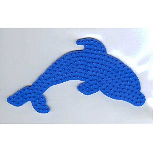 Hama MIDI Bügelperlen Stiftplatte Delfin blau 300-09 + 100 Gratis Perlen