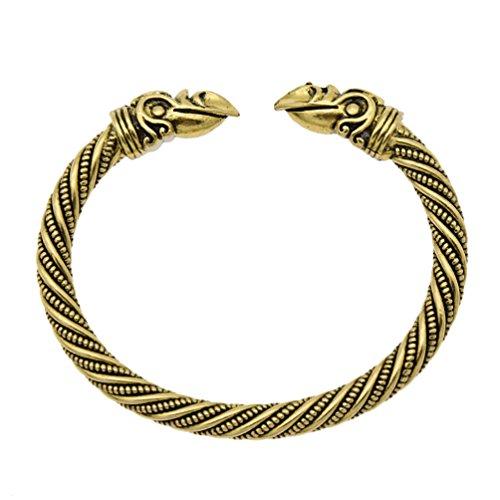 Kesheng Viking Armband Armreif Tiere Nordisch Schmuck Geschenk Damen Herren Vintage (A)