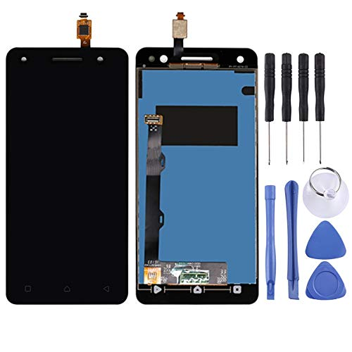 GUPENG Screen Replacement for Lenovo, Screen Replacement Touch Display LCD Digitizer Assembly With Front Facing Camera Proximity Sensor, for Lenovo Vibe S1 LITE S1LA40 (Color : Black)