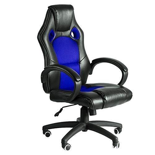 Regalos Miguel - Sillas Gaming - Silla Pro - Azul y Negro - Envío Desde España