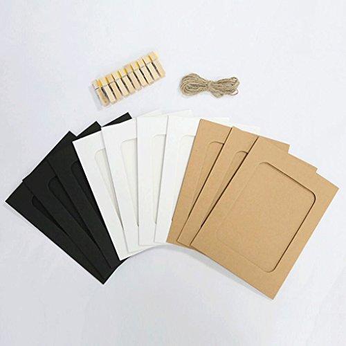 GAOLILI Clip de papier Kraft Corde de chanvre Suspendue Photo Mur Couleur Carton Cadre photo Ornements Baby Chambre Chambre ( Couleur : B )