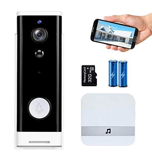 Wireless Doorbell Camera Wi-fi with Motion Detector and Chime, Smart...