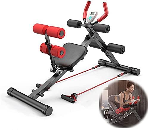 HTDHS Core & Addominal Trainers Pieghevole ABS Trainer ABS e Sit up Banco 2 in 1 per l'intera Macchina per Esercizi in Altezza AB Regolabile Macchina con Display LCD