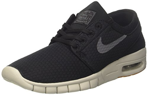 Nike Stefan Janoski MAX, Zapatillas de Skateboard Hombre, Negro (Black/Dark Grey/Gum Med Brown/Light Bone 020), 48.5 EU
