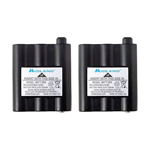 Midland AVP17 Rechargeable Battery Packs for Midland GXT800, GXT808, GXT850, GXT860, GXT881, GXT895, GXT900, GXT950, GXT991, GXT1000, GXT1030, GXT1050, GXT1091, T290, T295, & XT511 (Pair), BATT5RX