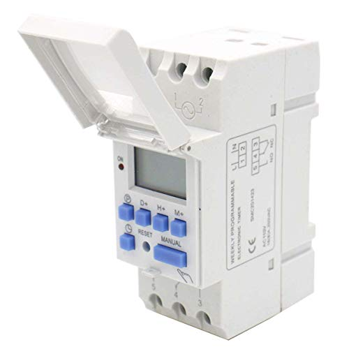 Baomain THC15A AC 110V Digital LCD Power Programmable Timer Time Switch Relay 16A Amp
