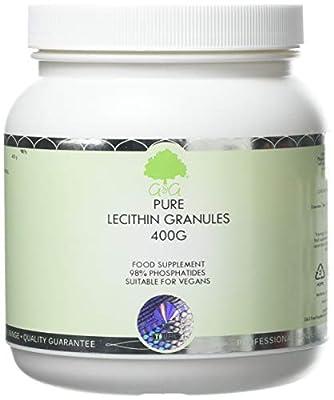 G&G Vitamins Lecithin Pure Granules 400g - Non-GMO Soy Lecithin - 98% Phosphatides