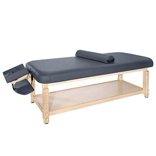 "Master Massage 30"" Laguna Stationary Massage Table Treatment Clincal Beauty Bed Royal Blue with Shelf"
