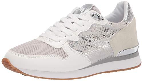 NINE WEST Women's Banx Sneaker, Silver, 6.5