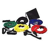 Lonfenner Gomas elasticas Fitness Fitness Banda elástica Fitness expansor de Pecho Cuerda elástica Dispositivo de Entrenamiento de Fuerza Cuerda de tracción doméstica
