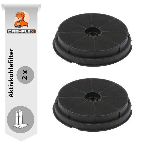 DREHFLEX Lot de 2filtres à charbon actif Filtre à charbon carbonfi lter Hotte 190mm–Compatible avec refsta Hottes–Compatible avec filtre à charbon K25...