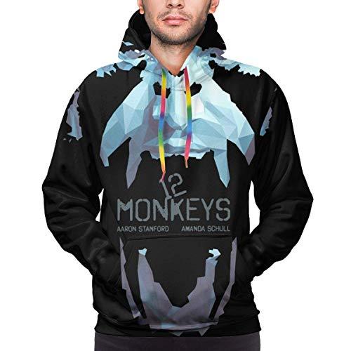 Tengyuntong Herren Kapuzenpullover, Hooded Sweat, Men's Fashion 3D Print Long Sleeve Hoodie Sweatshirt
