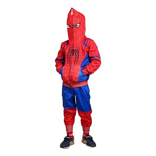 Ragazzi Spiderman Felpa Fumetto Cerniera Incappucciato Cappotto Pantalone Regali per Bambini 2-8 Anni