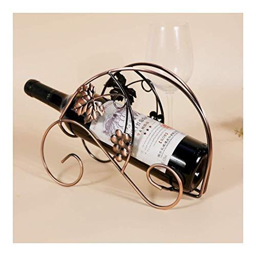 HJXSXHZ366 Estantería de Vino Clásica Concha de Caracol Crafts botellero de Metal Elegante botellero Estante de Vino pequeño