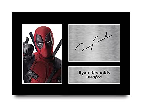 HWC Trading Ryan Reynolds A4 Sin Marco Regalo De Visualización De Fotos De Impresión De Imagen...