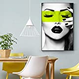 Fashion Model Pictorial Figure Poster Print Colorful Art Wall Decor Canvas For Living Room Girl Studio Nordic Decoration Picture 40x70 CM (sans cadre)