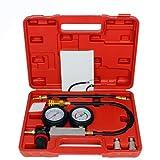 0-100PSI Doppel-Benzin-Gas-Zylinder-Kompressor-Mess Messer Test Druck-Kompressions Tester Leakage Diagnosewerkzeug