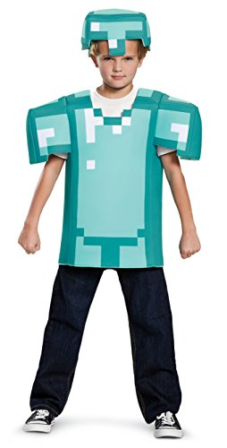 Armor Classic Minecraft Costume, Blue, Small (4-6)