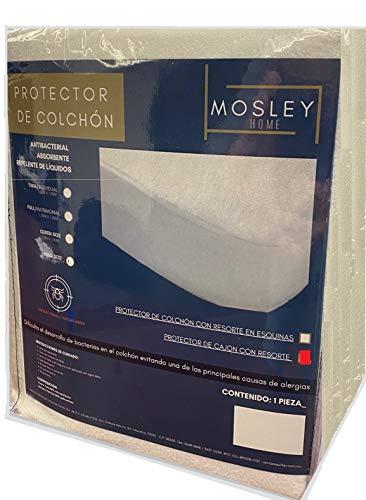 Mosley Protector de Colchón Repelente a Líquidos Color Blanco Anti Acaros (Individual)