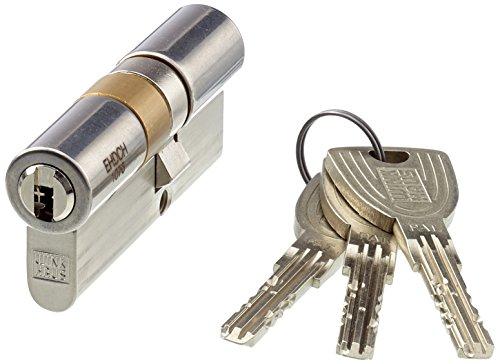 WINKHAUS XT77N 28+40 EHD hochwertiger, profesioneller Einbaudoppelzylinder key Tec X-tra für Schlößer mit Profilzylinder, 28/40, Messing vernickelt matt