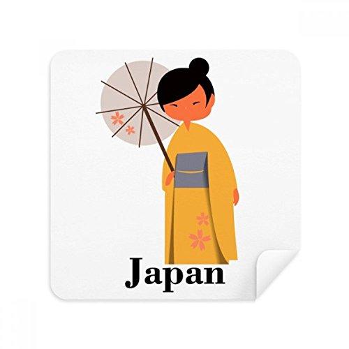 Traditionele Japanse Vrouwen Jurk Code Bril Reinigingsdoek Telefoon Schermreiniger Suede Stof 2 stks
