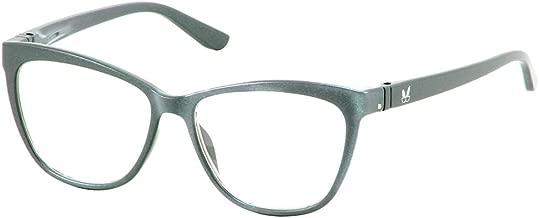 Bunny Eyez Stacy Wearable, Tilt-able, Flip-able Women's Reading Glasses (Silver Metallic, 150)
