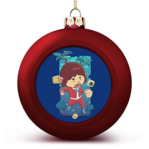 VNFDAS Alex Kidd In Miracle World - Bola de Navidad con adornos...